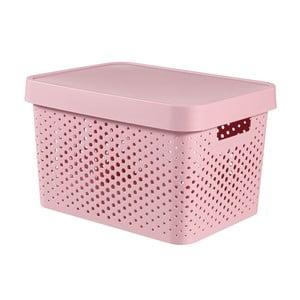 Ružový úložný box Curver Holes