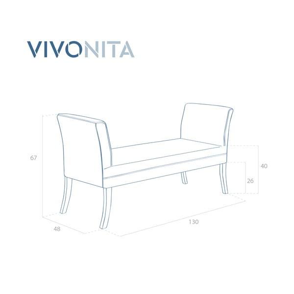 Tmavožltá lavica Vivonita Selma