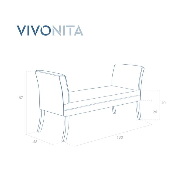 Fialová lavica Vivonita Selma