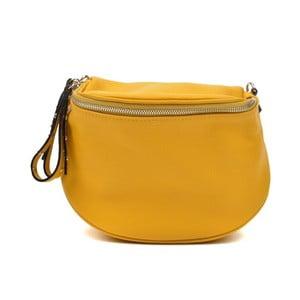 Žltá kožená kabelka Anna Luchini Marhullo