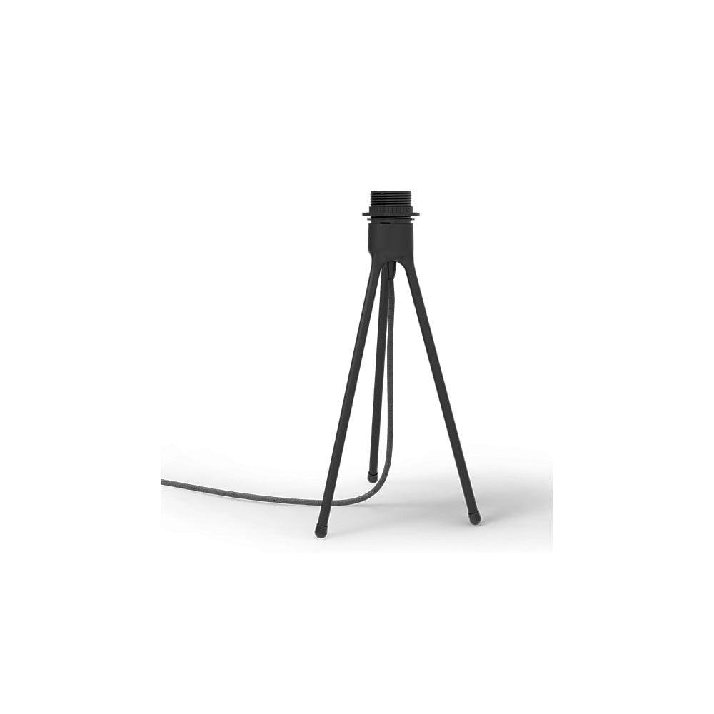 Čierny stolový stojan tripod na svietidlá UMAGE, výška 36 cm