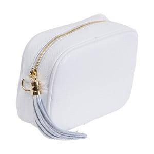 Biela kabelka z pravej kože Andrea Cardone Pezzo