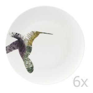 Sada 6 porcelánových tanierov Flutter, 27 cm