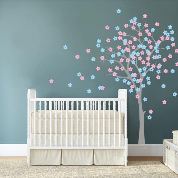 Samolepka na stenu Kvetinový strom, 2 archy, 70x50 cm