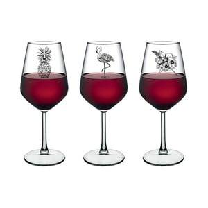 Sada 3 pohárov na víno Vivas Amazon, 345 cm