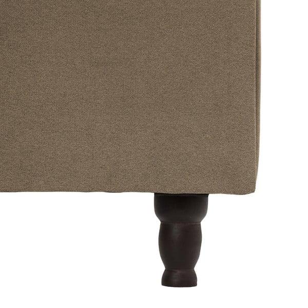 Hnedá posteľ VIVONITA Allon 180x200cm, čierne nohy