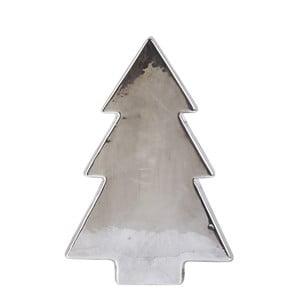 Dekoratívna keramická soška v striebornej farbe KJ Collection Tree Silver Matt, 22 cm