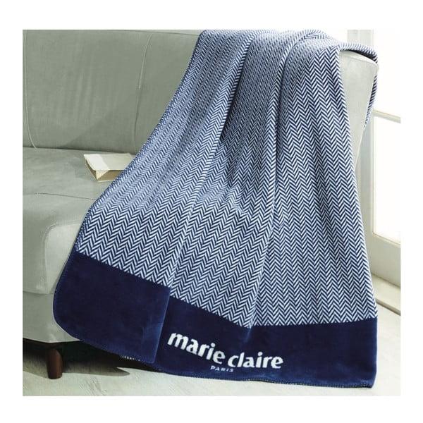Modrá deka z edície Marie Claire Bastia, 130×170cm