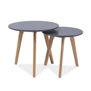 Sada dvoch stolíkov Milan, sivá