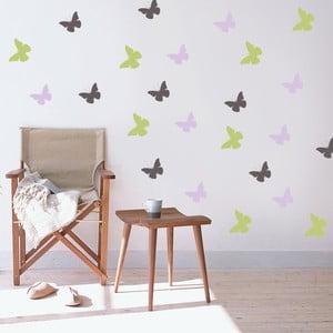 Dekoratívna samolepka na stenu Farebné motýle