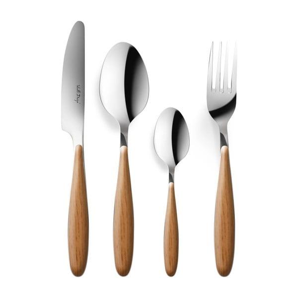 24-dielna sada príborov s drevenou rukoväťou Vialli Design Oslo