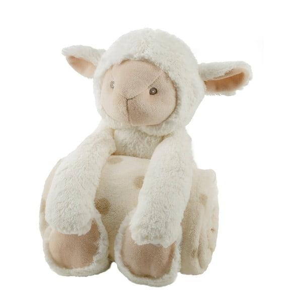Plyšová ovečka s detskou dekou, 75x100 cm
