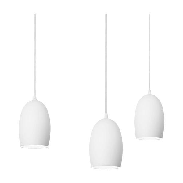 Trojité svietidlo Sotto Luce UME Elementary, matná opálová/biela/biela