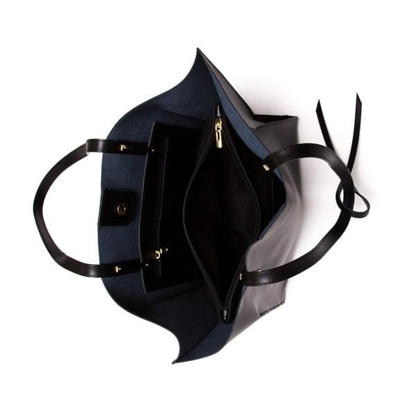 Kožená kabelka Mangotti 388 Nero