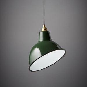 Závesné svetlo Angled Cloche Green