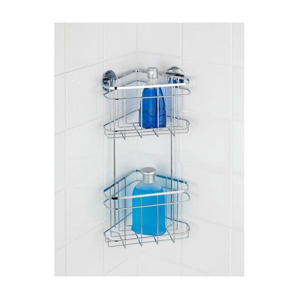 Samodržiaca dvojposchodová rohová polička Wenko Turbo-Loc, až 40 kg