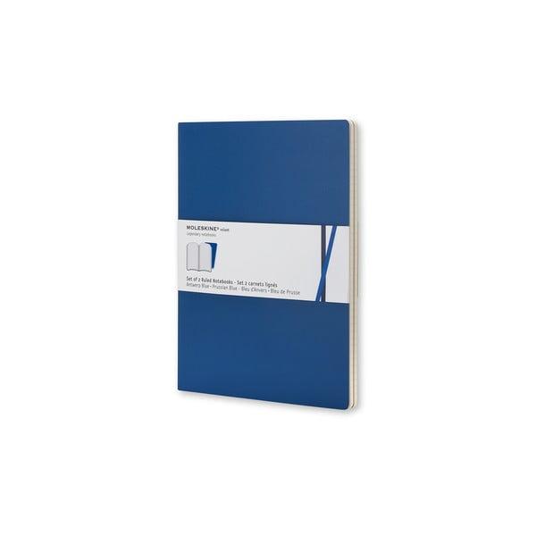 Sada 2 notesov Moleskine v Antverpách Blue, linkované 13x21 cm