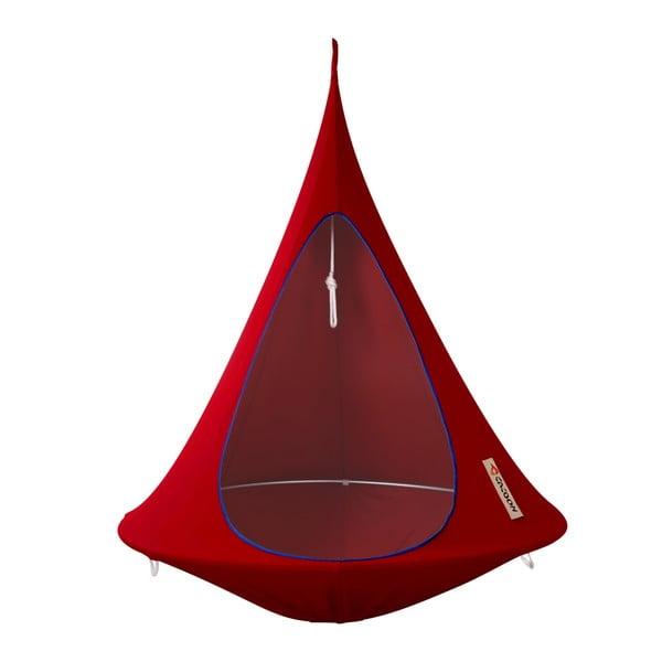 Červené závesné kreslo pre jedného Cacoon Single