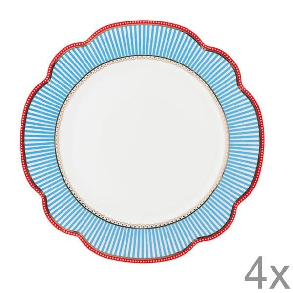Porcelánový tanier Seaside od Lisbeth Dahl, 24 cm, 4 ks