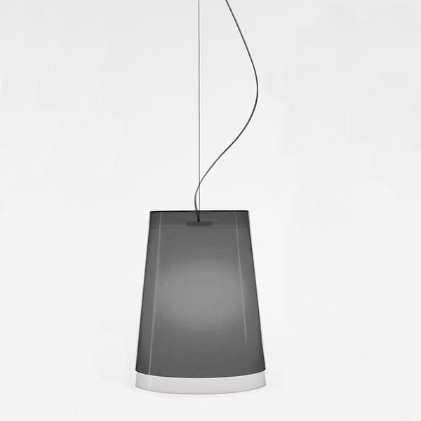 Sivé závesné svietidlo Pedrali L001S/AA