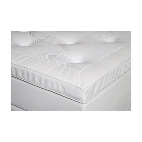 Biela posteľ s matracom Gemega Delux, 160x200 cm
