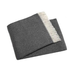 Tmavě šedý pléd s podílem bavlny Euromant Ruby, 140x180cm