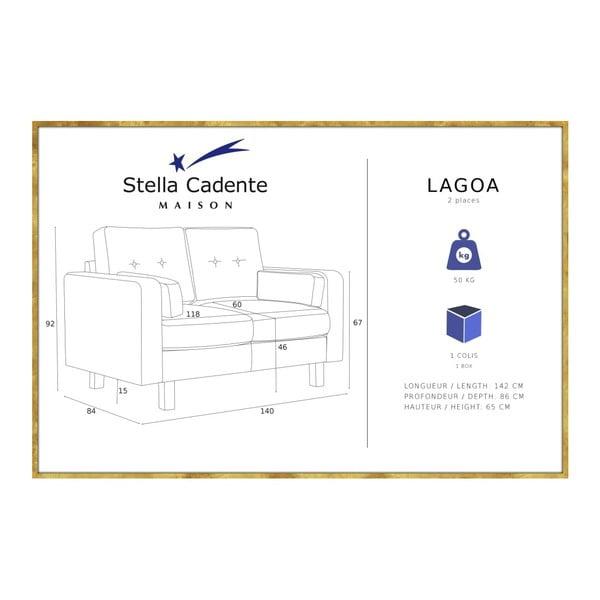 Modrá dvojmiestna pohovka Stella Cadente Maison Lagoa