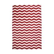 Bavlnený koberec Chevron Ivory/Red, 120x180 cm