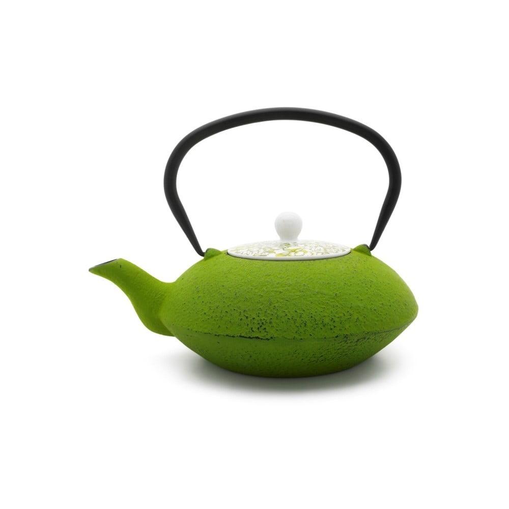 Zelená liatinová kanvička na čaj Bredemeijer Yantai, 1,2 l