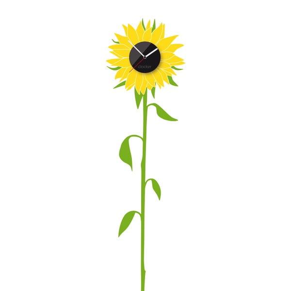 Hodiny so samolepkou Sunflower
