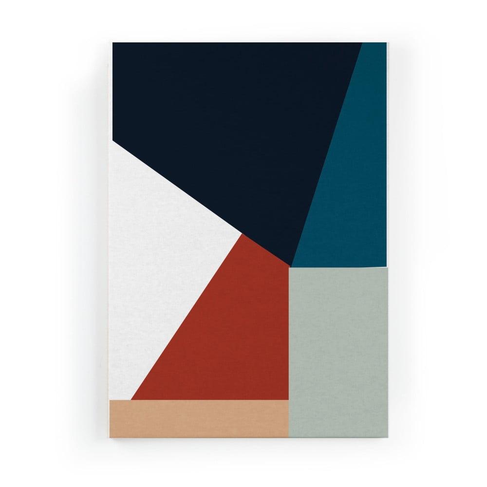 Obraz na plátne Really Nice Things Geometric Blue, 50 × 70 cm