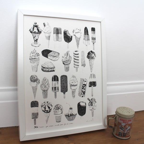 Plagát We All Scream For Ice Cream, 30x40 cm