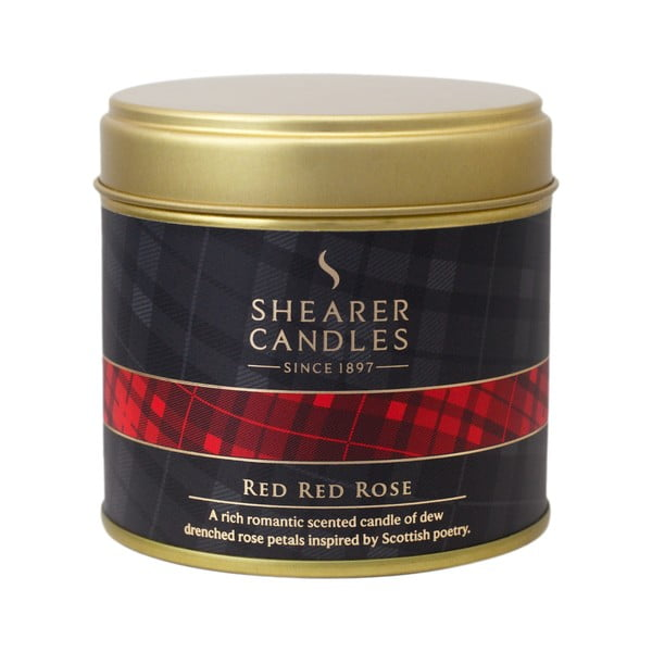 Vonná sviečka Shearer Candle 7 cm, červená ruža