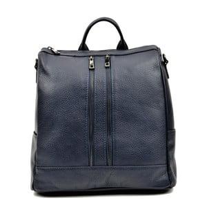 Tmavosivý kožený batoh Luisa Vannino Tara