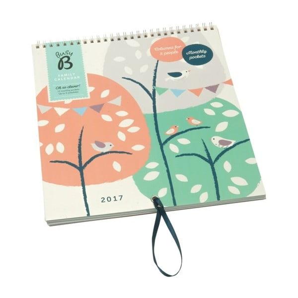 Nástenný kalendár Busy B Family Treehouse/Bird 2017