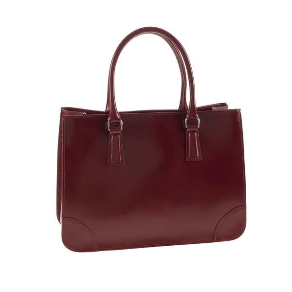 Červená kožená kabelka Ore Diece Benevento