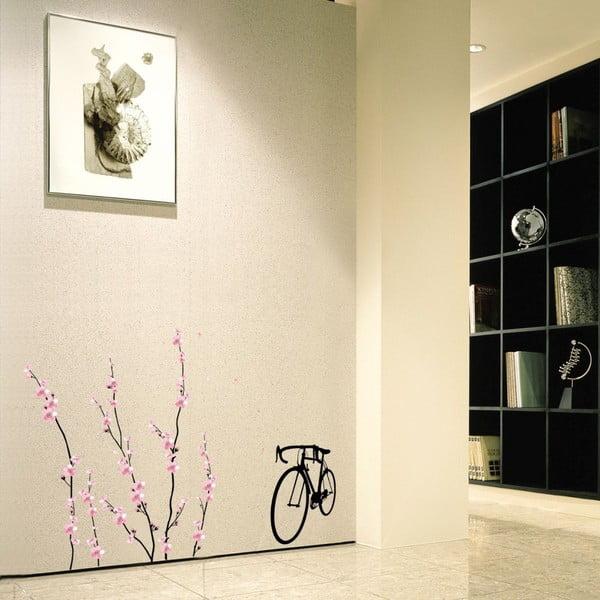 Samolepka Ambiance Flowers and Bicycle