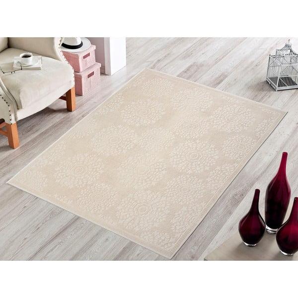 Krémový odolný koberec Vitaus Penelope, 100x150cm
