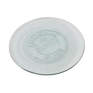 Sklenený tanier Antic Line Authentic Vintage, 28 cm