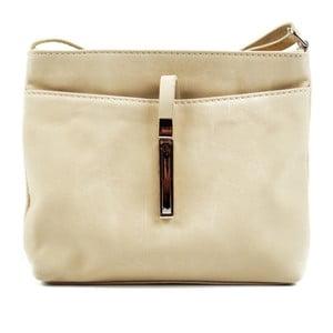 Béžová kožená kabelka Roberta M Julia