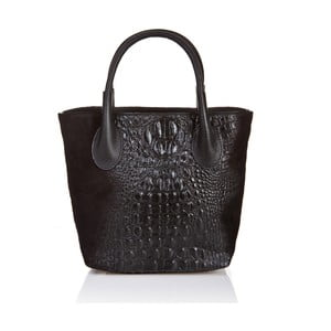 Čierna kožená kabelka Massimo Castelli Laurita