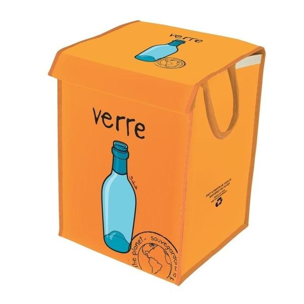 Oranžový kôš na recyklovanie skla Incidence  Rubbish