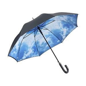 Modrý dáždnik s rúčkou s dvojitou vrstvou Von Lilienfeld Bavarian Hamburg Sky