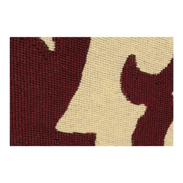 Červený koberec Floorist Agac Claret Red,80x150cm