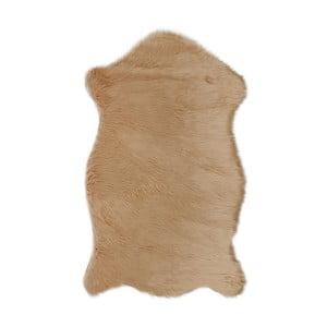 Hnedý koberec z umelej kožušiny Dione, 100 x 75 cm