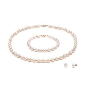 Set ružových perlových šperkov GemSeller Cava