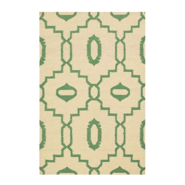 Ručne tkaný koberec Kilim JP 11031 Green, 90x150 cm