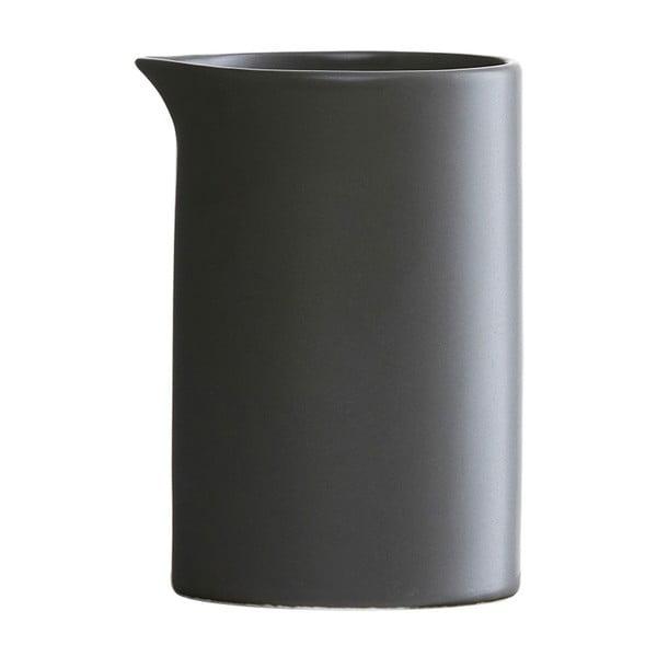 Čierna porcelánová dóza na mlieko House Doctor Milky