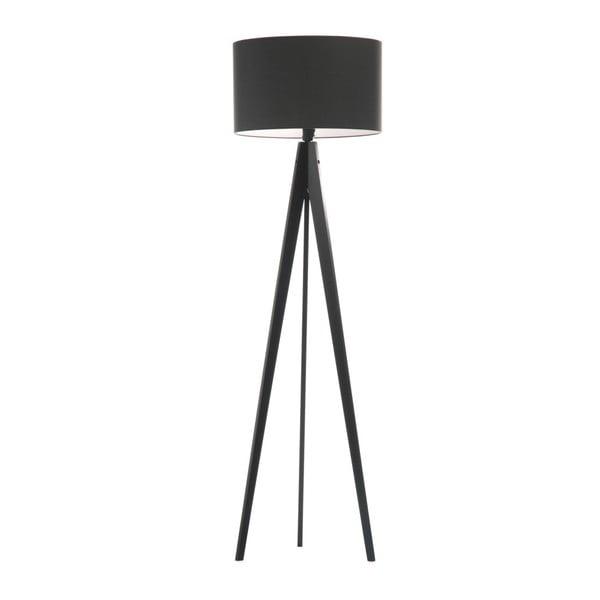 Čierna stojacia lampa 4room Artist, čierna lakovaná breza, 150 cm