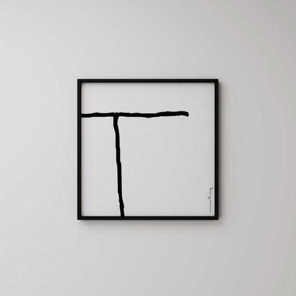 Plagát Litera T, 50x50 cm